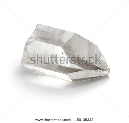 Closeup Picture Of Pure Quartz (Crystal Rock) Mineral Gemstone.
