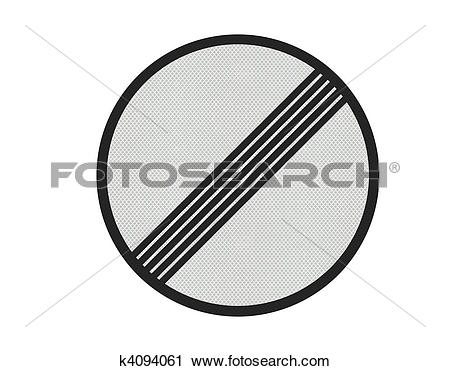 Clipart of Photo realistic 'no limits' sign, isolated on pure.