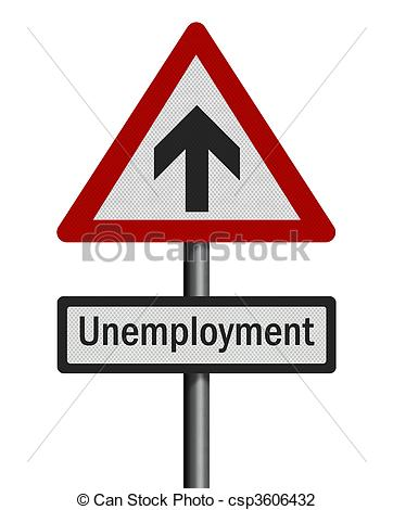 Clip Art of Political issue series: \'unemployment increase.