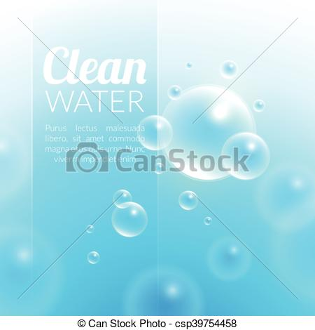 Clipart Vector of Clean Purified Water Vector Background.