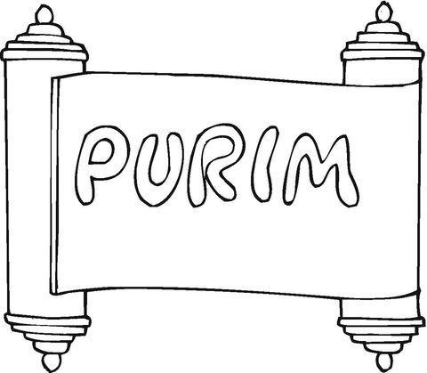 Purim coloring page.