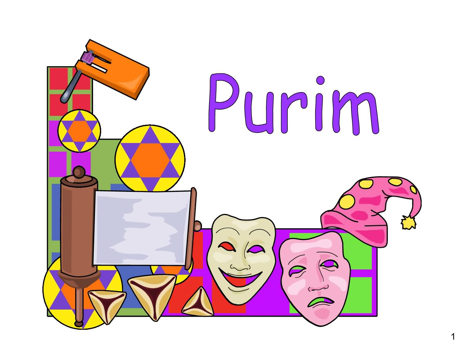Purim Wishes Clipart.