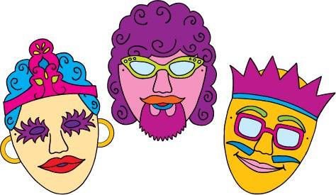 Purim mask clipart 5 » Clipart Portal.