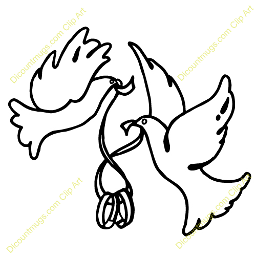 Two Dove Clipart.