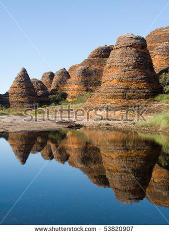 Bungle Bungles At Purnululu National Park, Western Australia Stock.