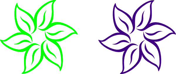 Lime Green And Purple Flower Clip Art at Clker.com.