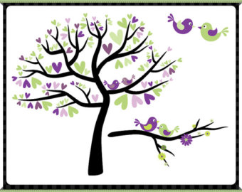 Lime green and purple clipart.