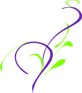 Purple and green clipart.