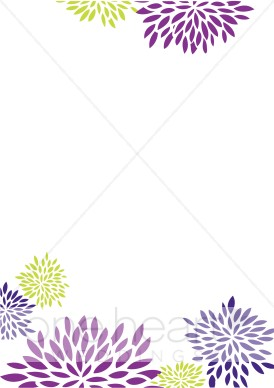 Purple and Green Floral Background.