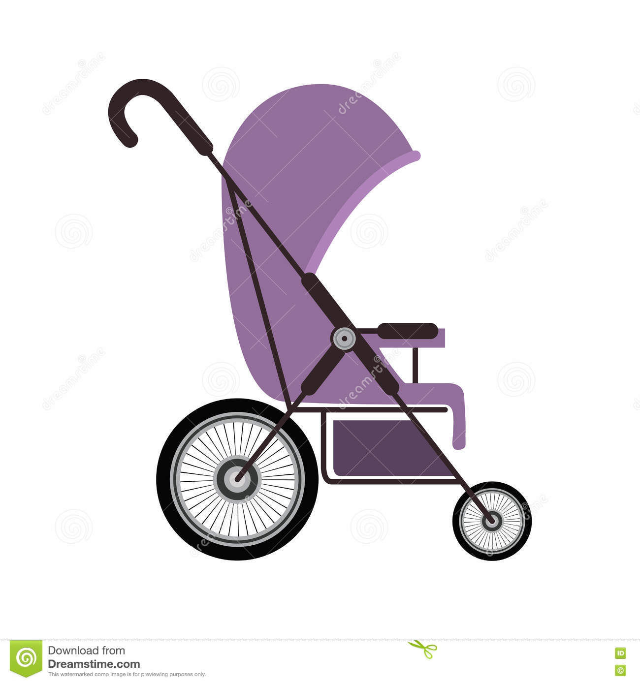 Showing post & media for Purple baby carriage cartoon.