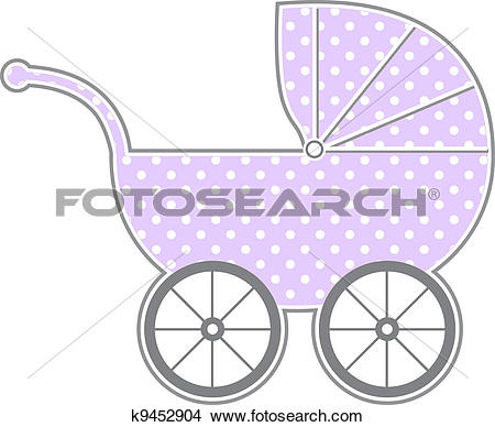 Clipart of Baby Carriage k9452904.