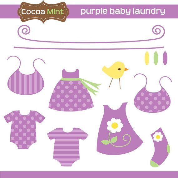 Baby Laundry Clip Art.