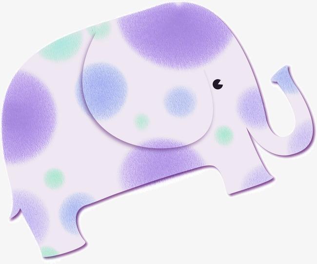 Purple Cute Baby Elephant, Cute Clipart, #77894.