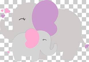 Baby shower Elephantidae , baby shower Baby Elephant, brown.