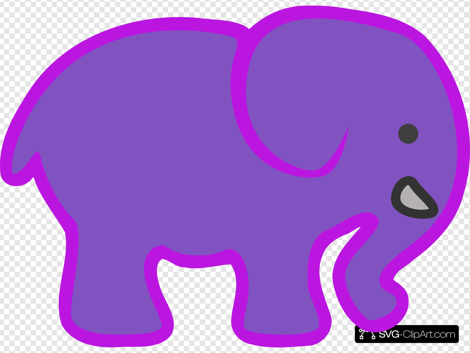 Baby Elephant Clip art, Icon and SVG.