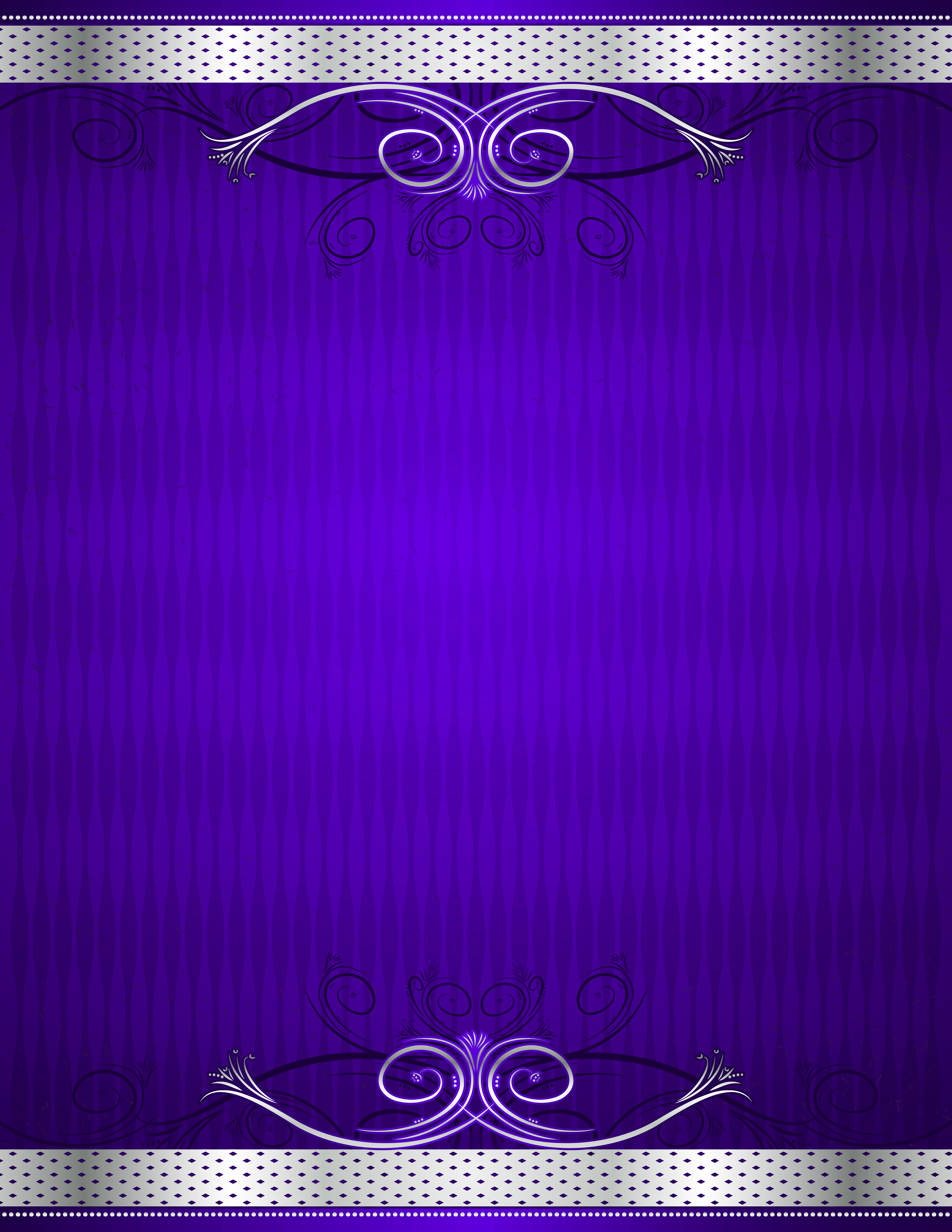 Purple and Silver Deco Background.