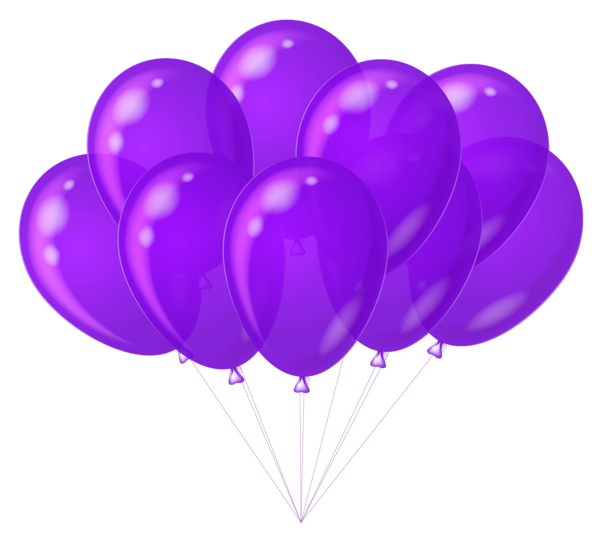Transparent Purple Balloons Clipart.