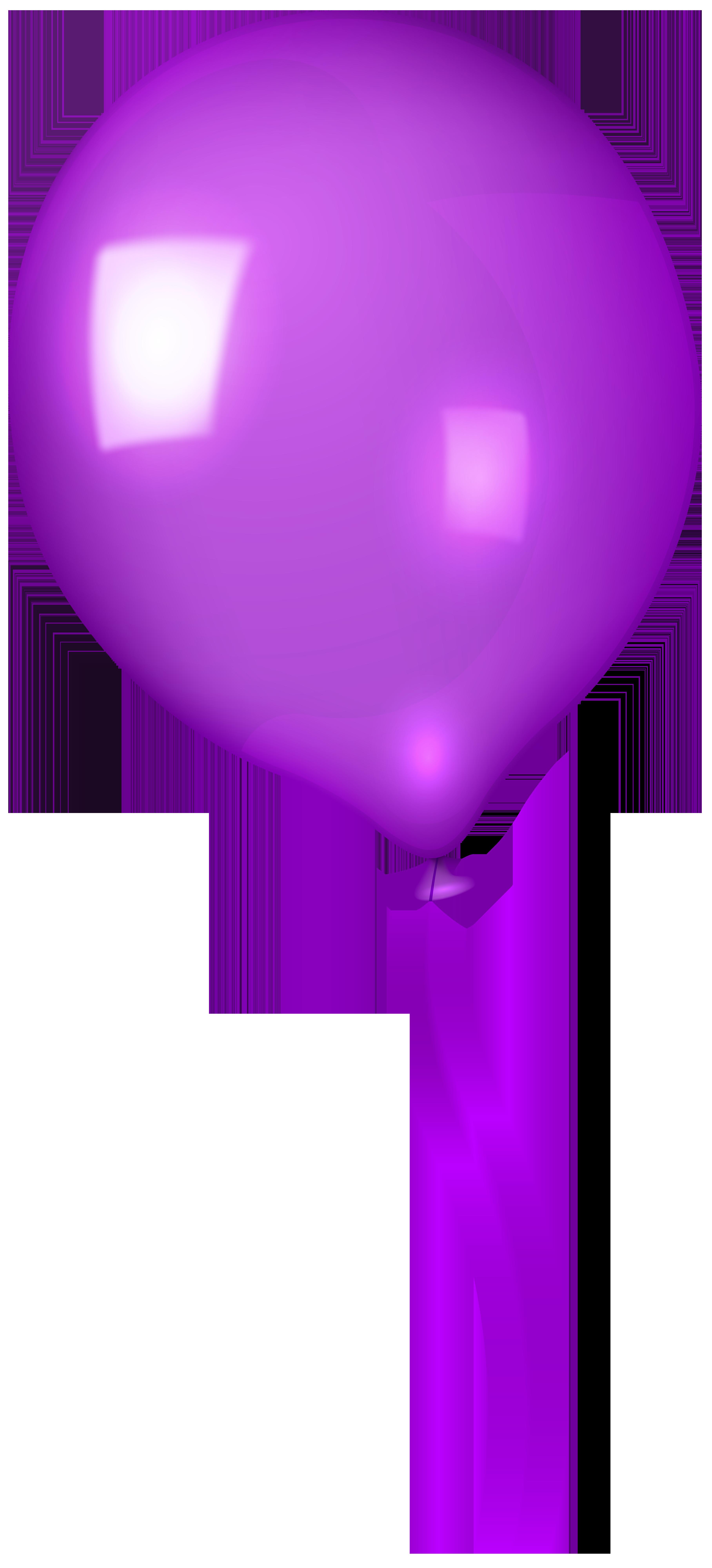 Purple Balloon Clip Art Image.