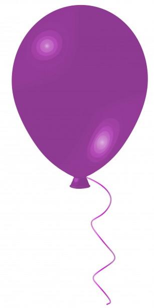 Balloon Purple Clip Art Free Stock Photo.