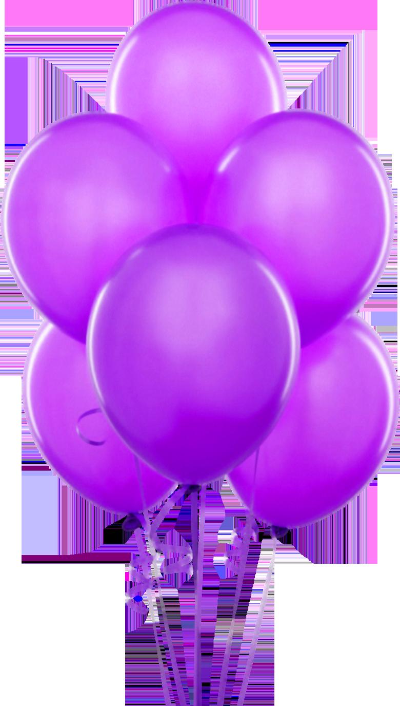 Purple Transparent Balloons Clipart.
