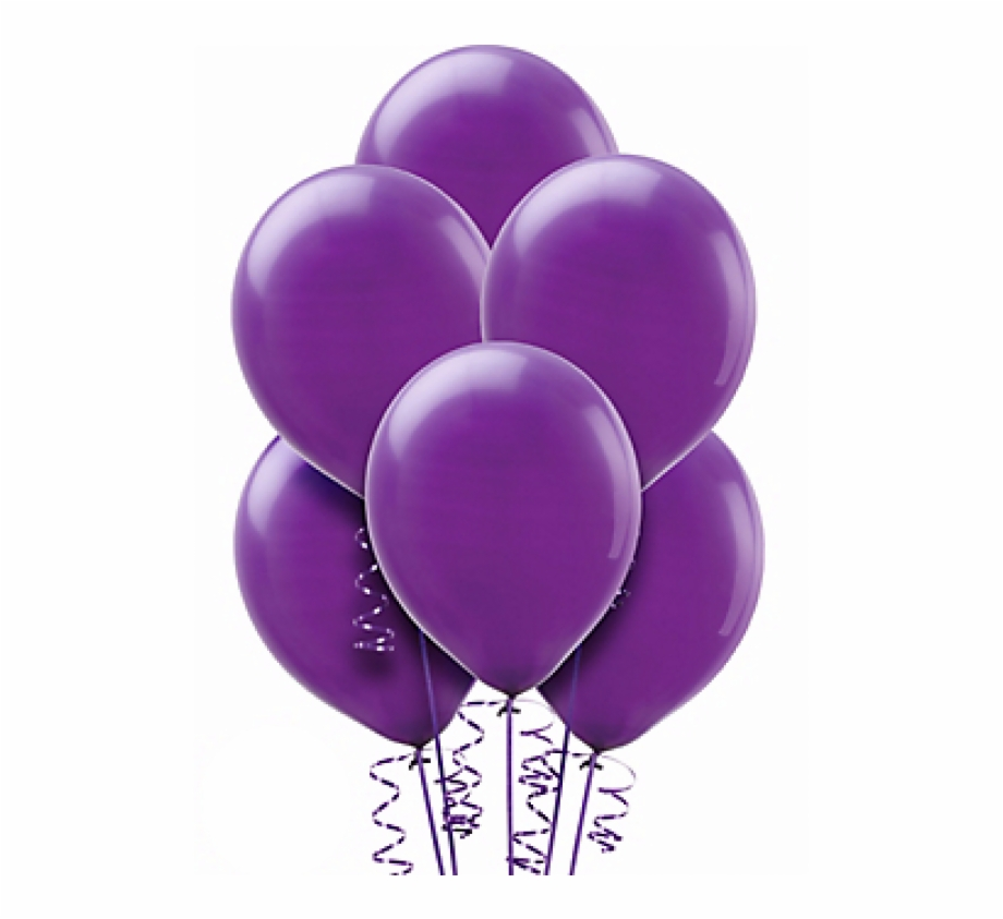 Transparent Background Purple Balloons, Transparent Png.