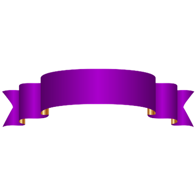 Purple Banner transparent PNG.