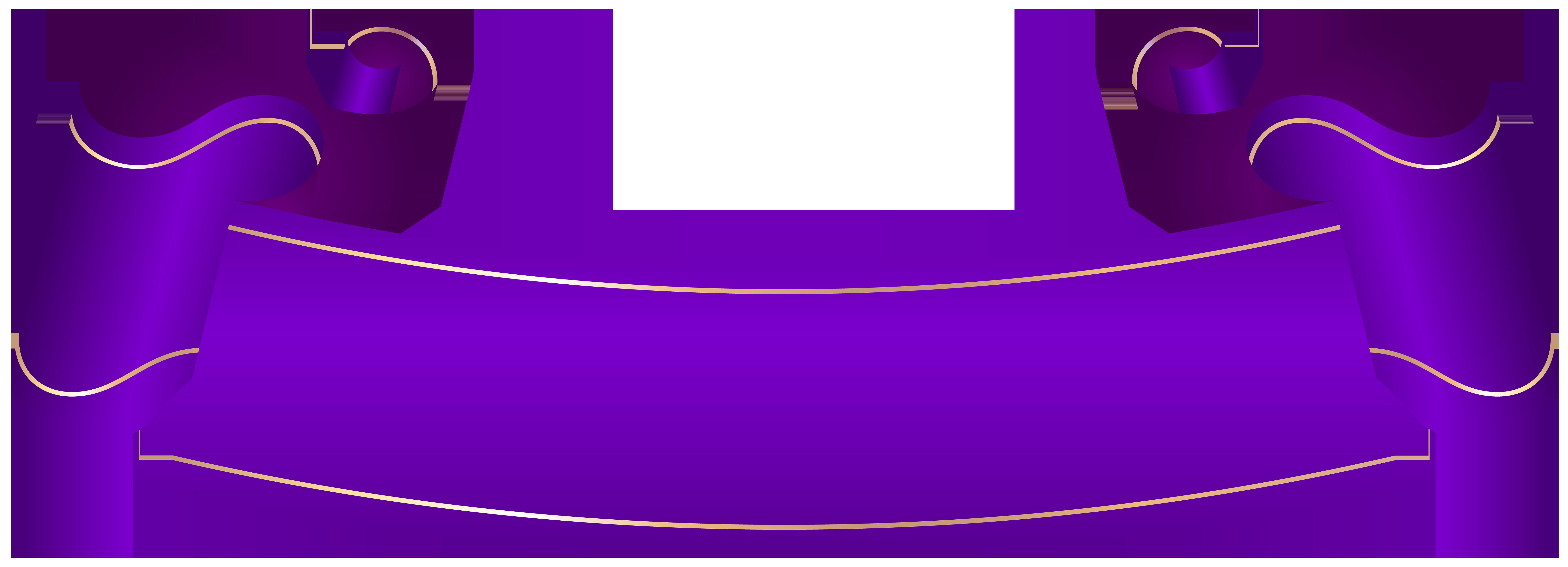 Purple Banner Transparent Clip Art.