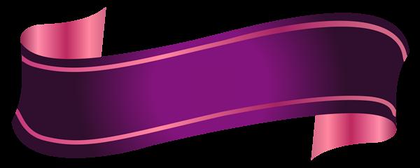 Purple Banner Transparent PNG.