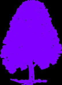 A Purple Silhouette Beech Tree Clip Art at Clker.com.