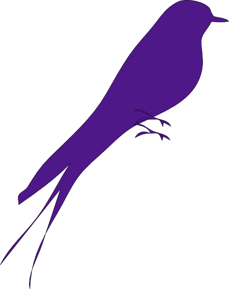Big Purple Bird Clip Art.