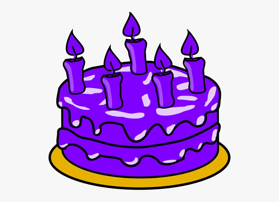 Purple Cake Cliparts.
