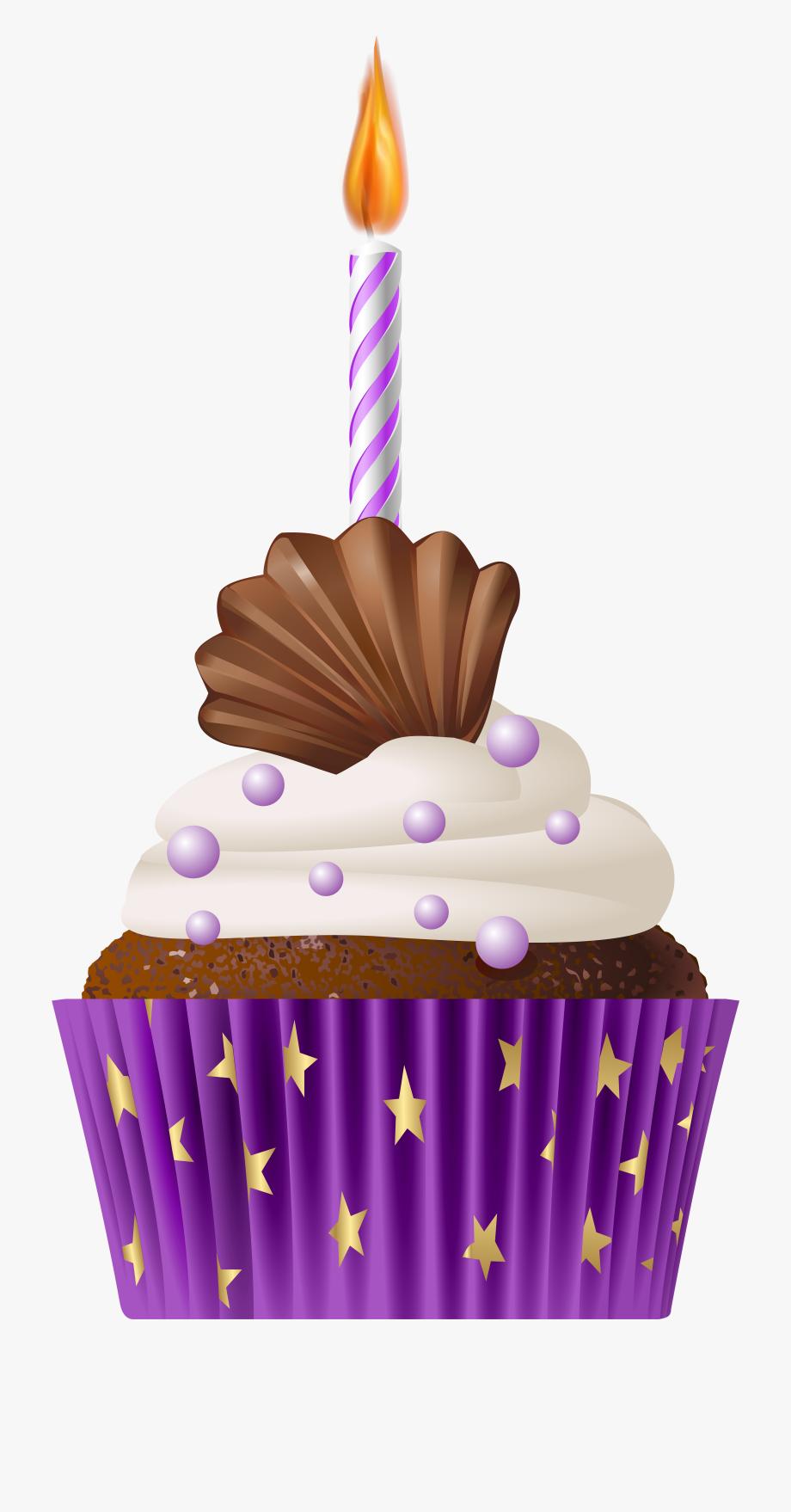 Muffin Clipart Purple.