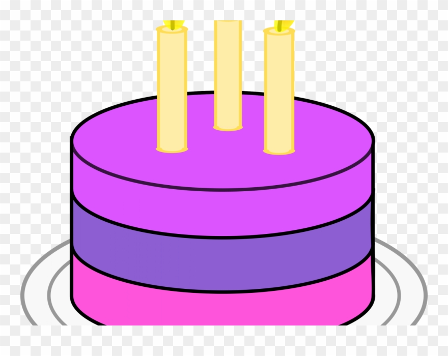 Simple Clipart Birthday Cake.