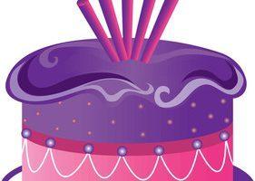 Purple birthday cake clipart » Clipart Portal.