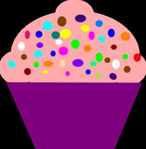 Cute Birthday Cupcake Clip Art.