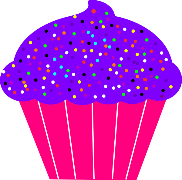 Purple Birthday Candle Clipart purple birthday cupcak...