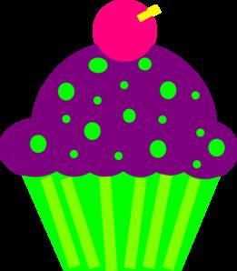 Purple Cupcakes Clipart.