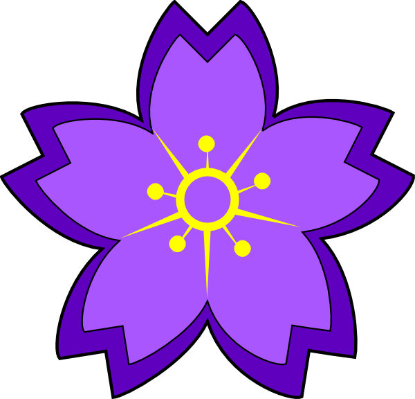 Purple Flower Clip Art at Clker.com.