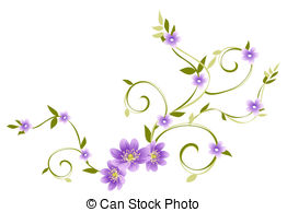 Purple cherry blossom clipart.