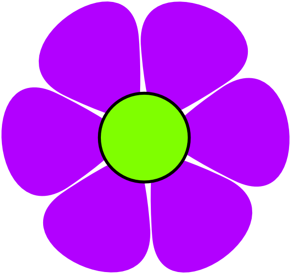 Clipart with purple flowers.