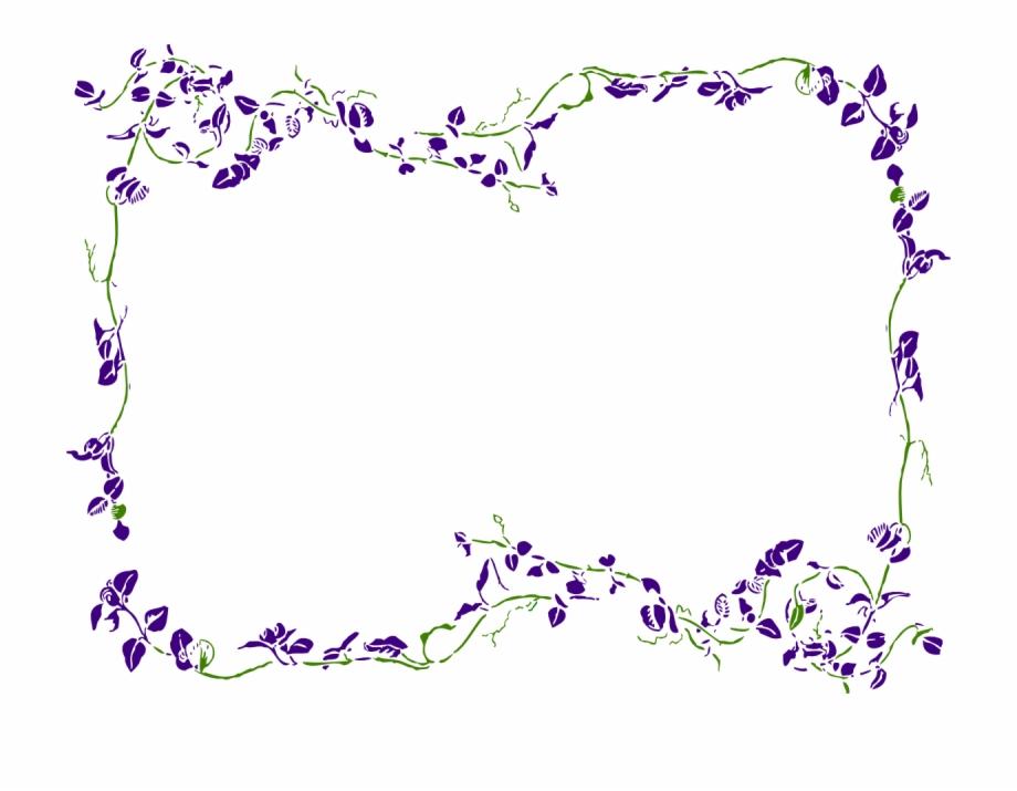 Purple Floral Border Clipart.
