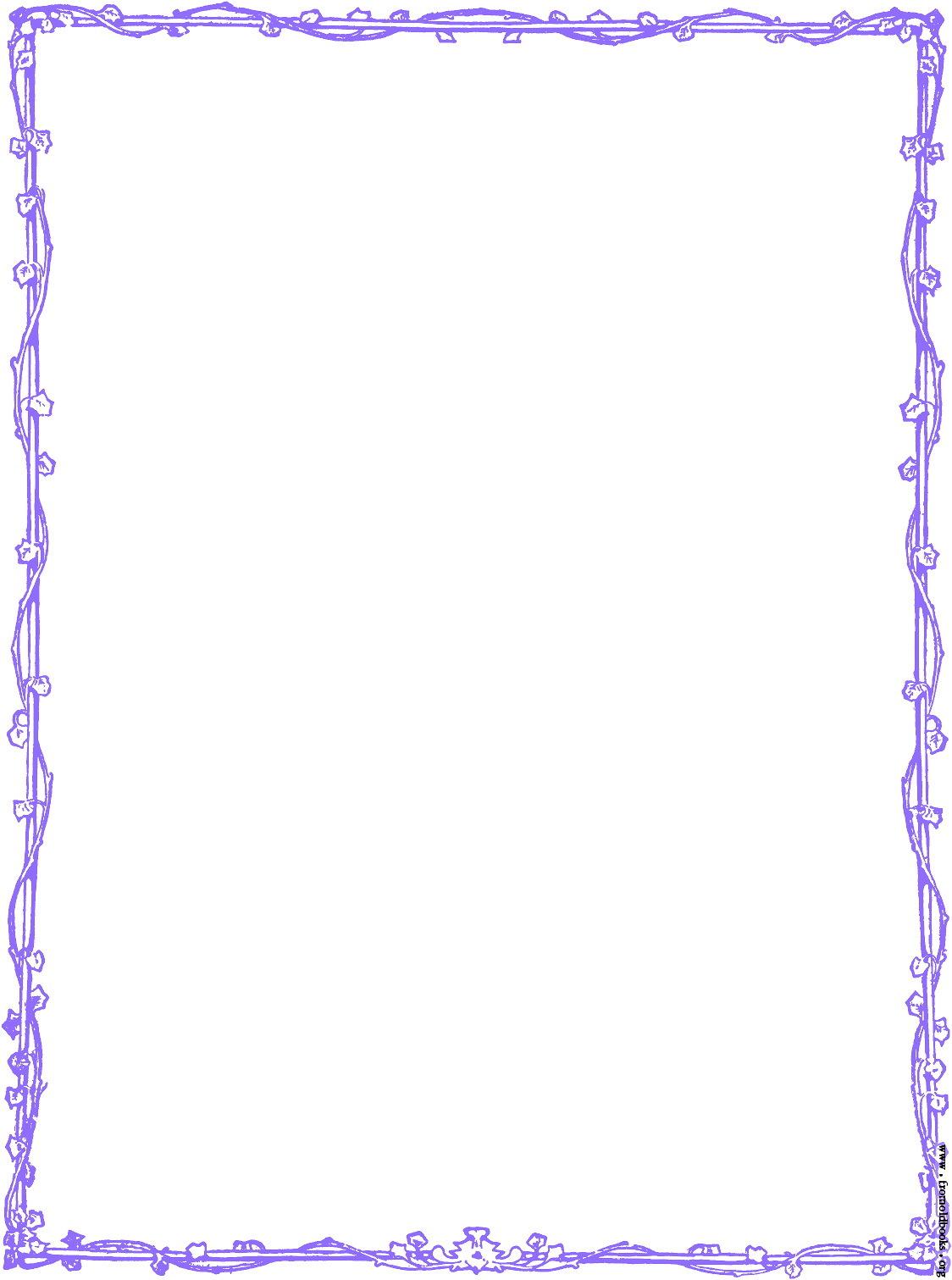 13 Purple Border Design Images.