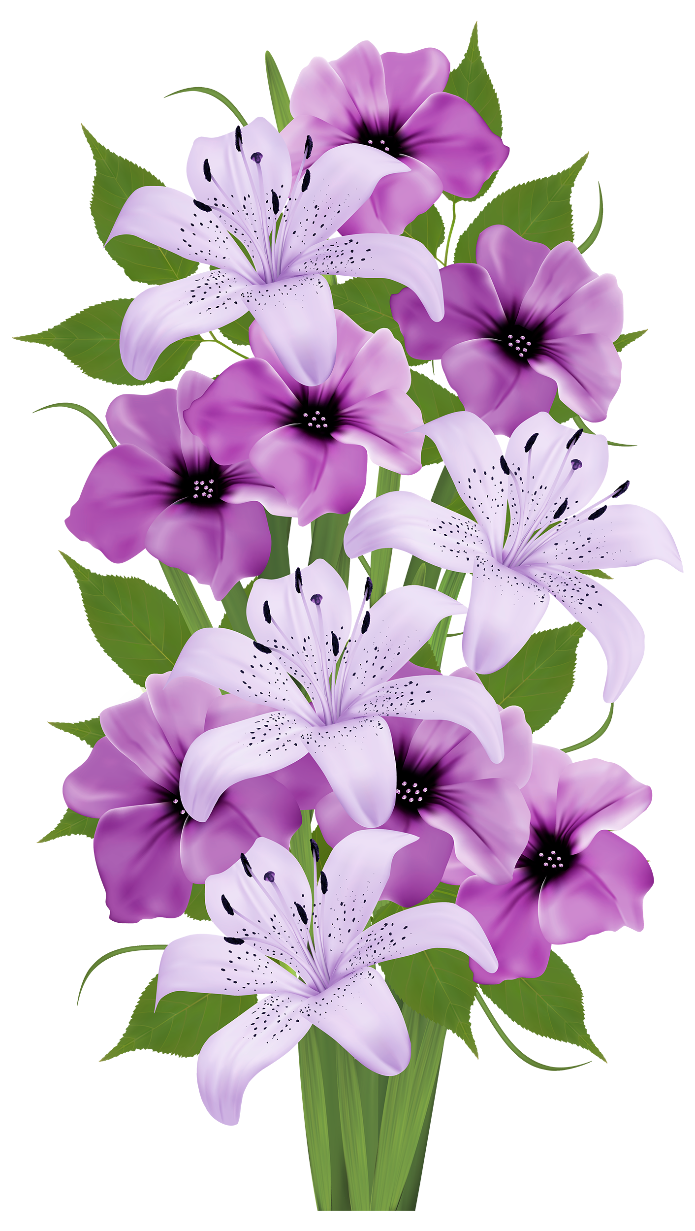Purple Decorative Bouquet PNG Clipart.