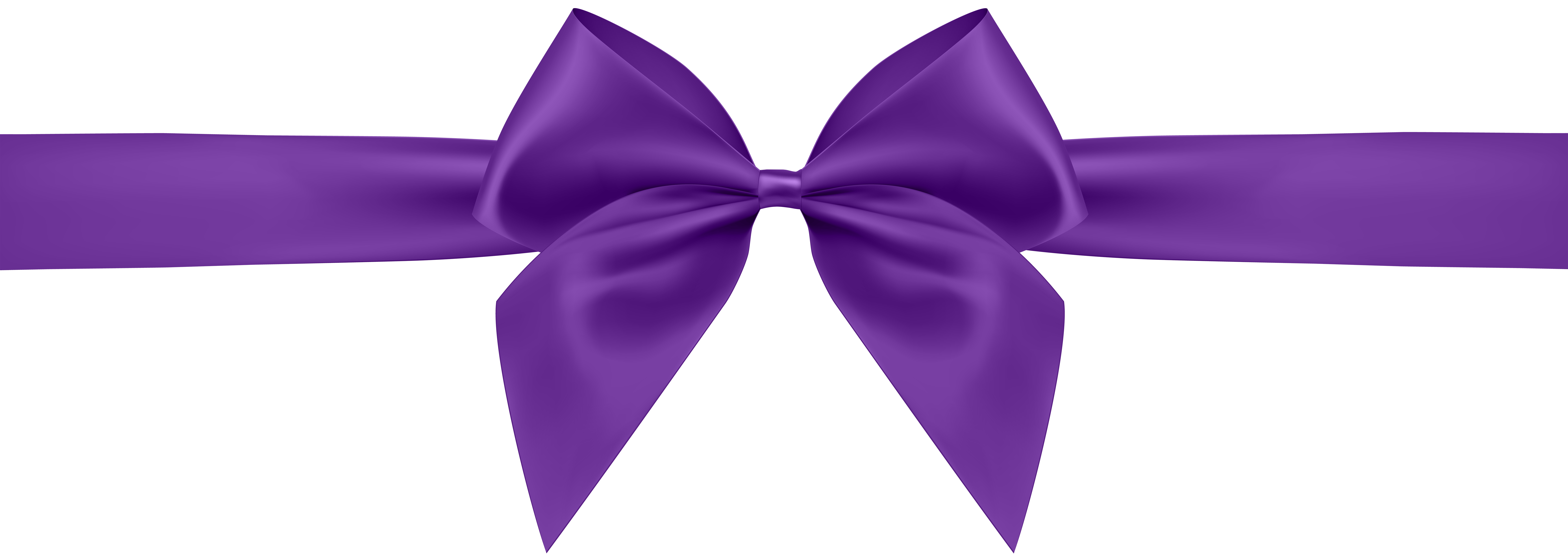 Purple Bow Transparent Clip Art Image.