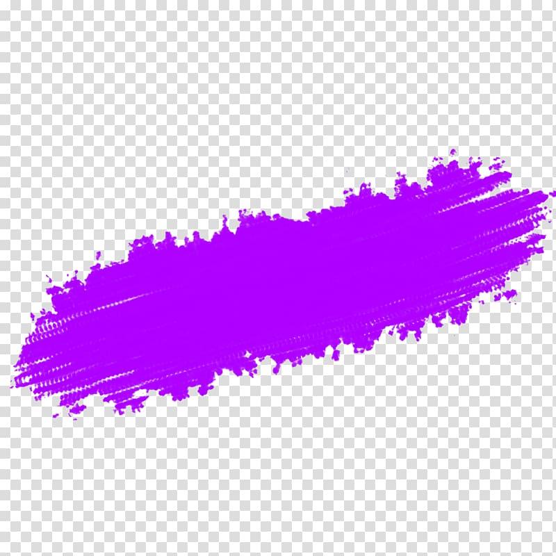 Purple Violet Magenta Lavender Brush, stroke transparent.