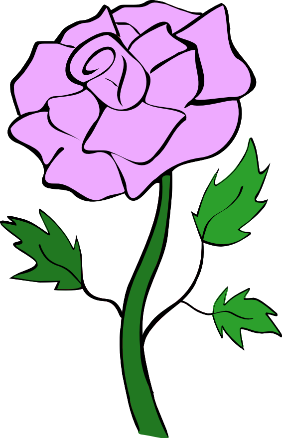 Purple Rose Bud Clip Art.