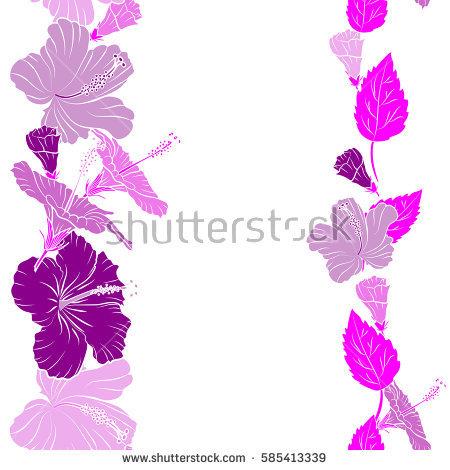 Vector Lotos On Purple Background Stock Vector 85312315.