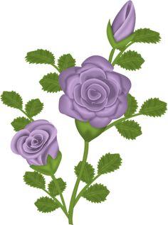 Purple Rose Bud Clip Art.
