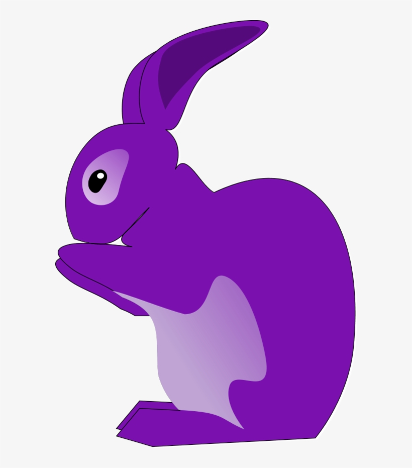 Purple Bunny Clipart.