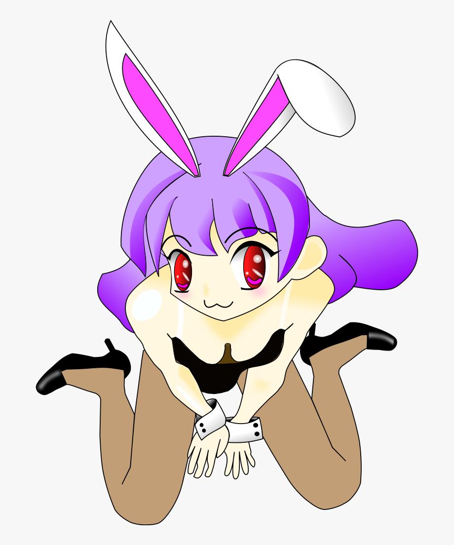 Bunny Girl With Purple Hair.